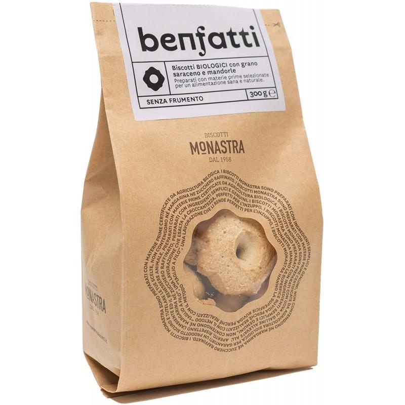 Biscotti Benfatti con Farina di Grano Saraceno e Mandorle BIO