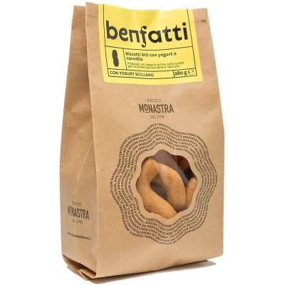 Biscuits Benfatti au yaourt et à la cannelle bio