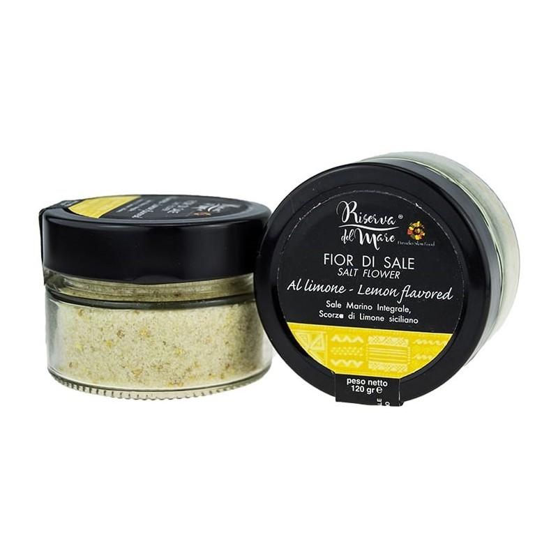 Flavored sea salt with lemon