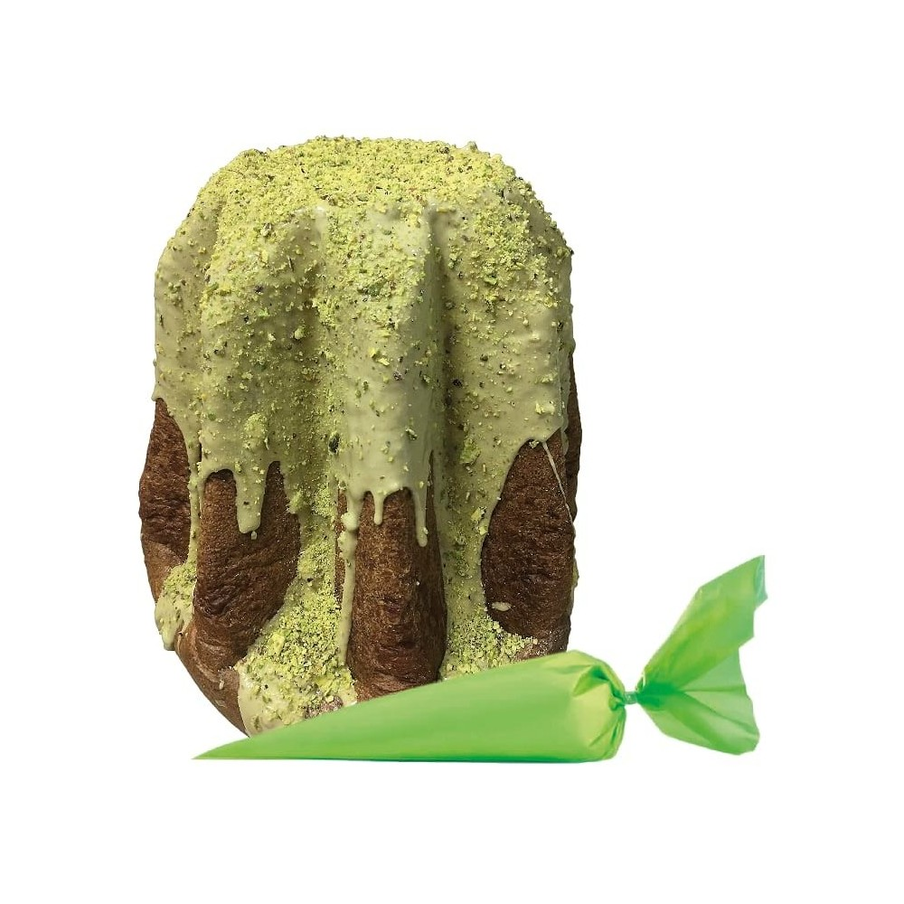 "Brontese artisan Pandoro with ""Green Pistachio of Bronte D.O.P."""