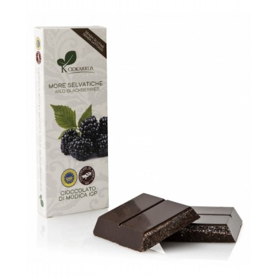 Schokolade aus Modica mit  Brombeeren