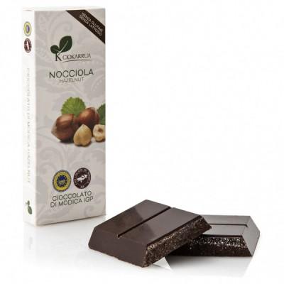 Schokolade von Modica mit Haselnüsse