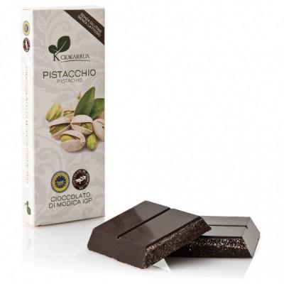 Schokolade aus Modica mit Pistazie