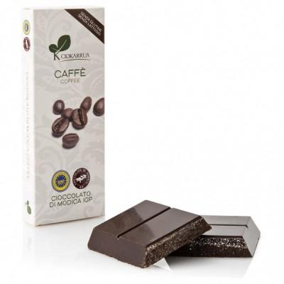 Schokolade aus Modica mit Kaffee