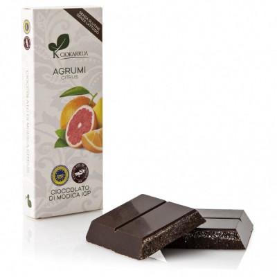 Schokolade Aus Modica Mit Zitrusfrüchte