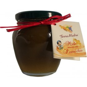 Honey flavored with pistachio of Bronte