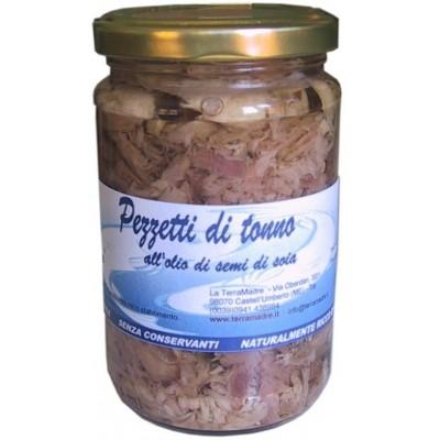 Pezzetti di Tonno all'olio di semi di soia