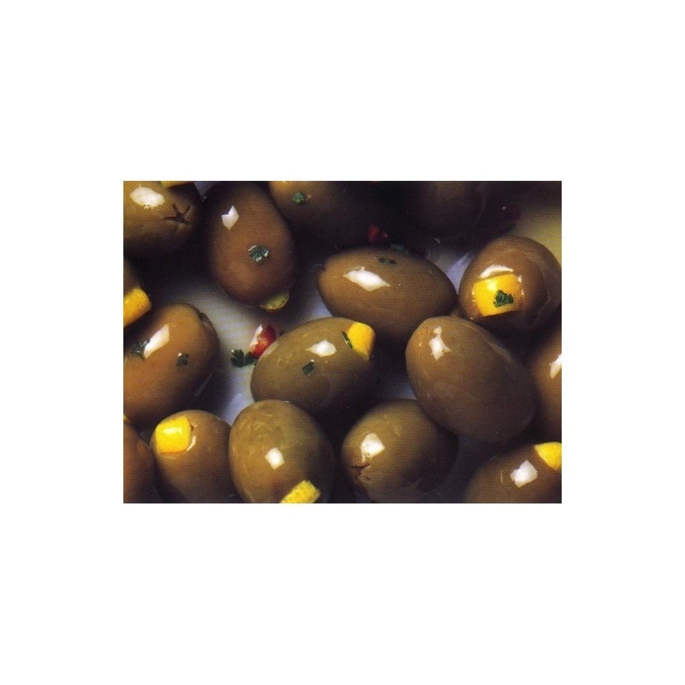 Olives with lemon zest