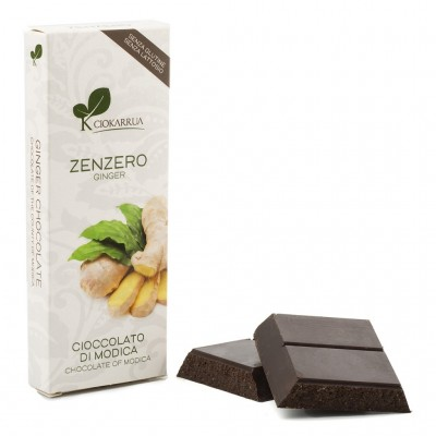 Chocolate of  Modica with ginger